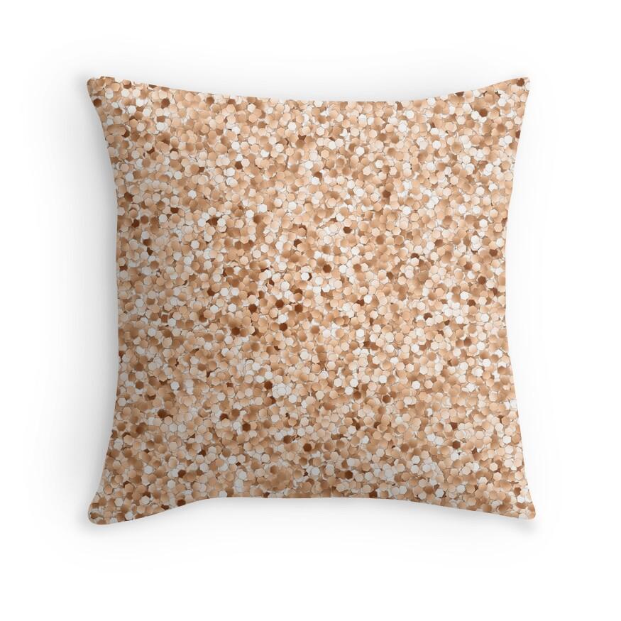Decorative Pillows Rose Gold :