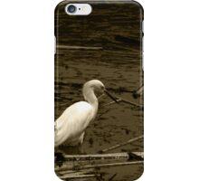 White Snowy Egret iPhone Case/Skin