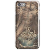 William Blake - The Great Red Dragon And The Beast From The Sea 1805. Man portrait: strong man,  Great,  Red Dragon , Dragon ,  Sea, Beast,  biblical,  bible,  horrific,  horror, myth iPhone Case/Skin