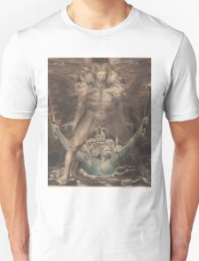 William Blake - The Great Red Dragon And The Beast From The Sea 1805. Man portrait: strong man,  Great,  Red Dragon , Dragon ,  Sea, Beast,  biblical,  bible,  horrific,  horror, myth Unisex T-Shirt