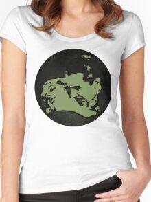Count Dracula and Victim Women's Fitted Scoop T-Shirt