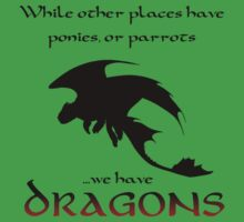 We Have Dragons (Red) Kids Clothes