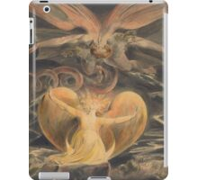 William Blake - The Great Red Dragon And The Woman Clothed With The Sun 1805. Myth:  Great,  Red Dragon , Dragon ,  Sea, Beast,  biblical,  bible,  horrific,  horror, woman, wings iPad Case/Skin