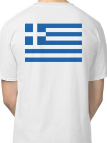 GREEK FLAG, GREEK, Greece, Grecian Flag, sky blue white, blue white,  Classic T-Shirt