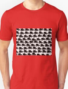 Black and White Cars Unisex T-Shirt
