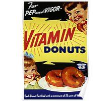 Vitamin Donuts Poster