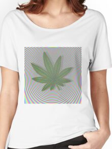 Trippy Colors White Women's Relaxed Fit T-Shirt