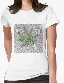 Trippy Colors White Womens Fitted T-Shirt