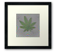 Trippy Colors White Framed Print