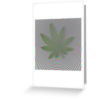 Trippy Colors White Greeting Card