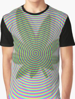 Trippy Colors White Graphic T-Shirt