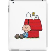 snoopy with charlie and woodstock iPad Case/Skin