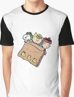 snoopy and friends in the box Graphic T-Shirt