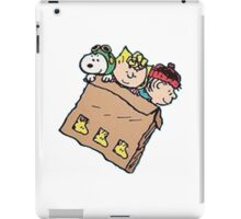 snoopy and friends in the box iPad Case/Skin