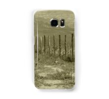 Barbed Wire Fence in a Field Samsung Galaxy Case/Skin