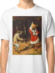 William Holbrook Beard - His Majesty Receives 1885. animals portrait: beasts, animals, foxes, hamster, Majesty, hares, costume, bathrobe, forest, trees, fantasy Classic T-Shirt