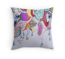 Workings of a chaotic mind Throw Pillow