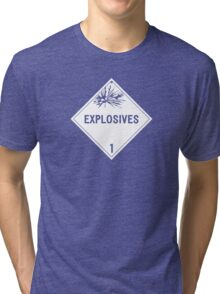 HAZMAT Class 1: Explosives Tri-blend T-Shirt
