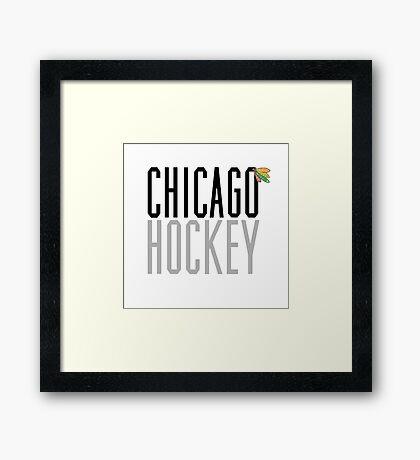 Chicago Hockey Framed Print