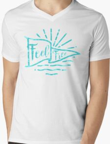 Feel Free Mens V-Neck T-Shirt