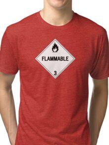 HAZMAT Class 3: Flammable Tri-blend T-Shirt
