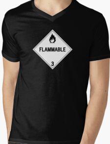 HAZMAT Class 3: Flammable Mens V-Neck T-Shirt