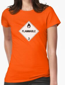 HAZMAT Class 3: Flammable Womens Fitted T-Shirt