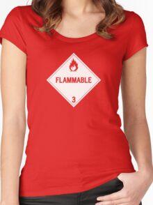 HAZMAT Class 3: Flammable Women's Fitted Scoop T-Shirt