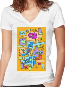Hip to be square Women's Fitted V-Neck T-Shirt