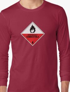 HAZMAT 4.2 Spontaneously Combustible Long Sleeve T-Shirt