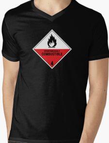 HAZMAT 4.2 Spontaneously Combustible Mens V-Neck T-Shirt
