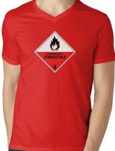 HAZMAT 4.2 Spontaneously Combustible Mens V-Neck T-Shirt