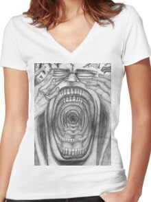 Scream-Ception II  Women's Fitted V-Neck T-Shirt