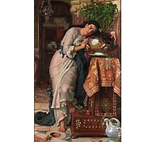 William Holman Hunt - Isabella And The Pot Of Basil 1867 Photographic Print