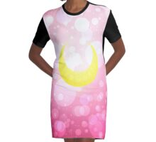 Sailor Moon Moon Symbol Graphic T-Shirt Dress
