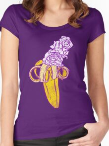 floral banana Women's Fitted Scoop T-Shirt