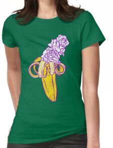 floral banana Womens Fitted T-Shirt