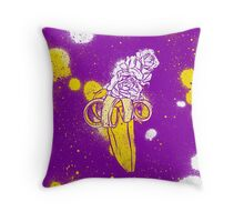 floral banana Throw Pillow
