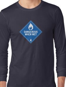 HAZMAT 4.3 Dangerous when Wet Long Sleeve T-Shirt