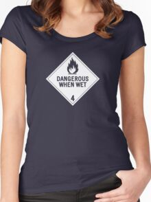 HAZMAT 4.3 Dangerous when Wet Women's Fitted Scoop T-Shirt