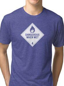 HAZMAT 4.3 Dangerous when Wet Tri-blend T-Shirt