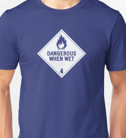 HAZMAT 4.3 Dangerous when Wet Unisex T-Shirt