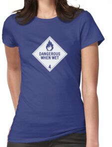 HAZMAT 4.3 Dangerous when Wet Womens Fitted T-Shirt