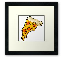 Cheesy Pepperoni Pizza Illustration  Framed Print