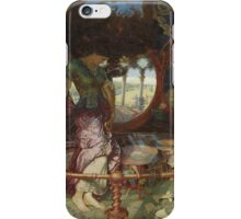 William Holman Hunt - Lady Of Shalott. Woman portrait: sensual woman, girly art, female style, pretty women, femine, beautiful dress, cute, creativity, love, sexy lady, fantasy iPhone Case/Skin