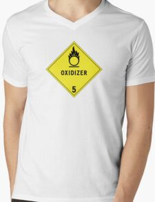 HAZMAT Class 5.1: Oxidizing Agent Mens V-Neck T-Shirt