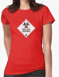 HAZMAT Class 6.2: Biohazard Womens Fitted T-Shirt