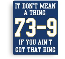 73-9 Dont Mean A Thing If You Aint Got That Ring  Canvas Print