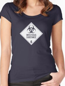 HAZMAT Class 6.2: Biohazard Women's Fitted Scoop T-Shirt