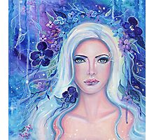 Fantasy portrait with flowers art by Renee Lavoie Photographic Print